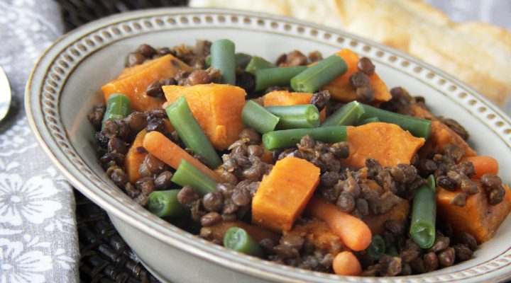 Slow Cooker Curried Sweet Potato and Lentil Stew :Recipes