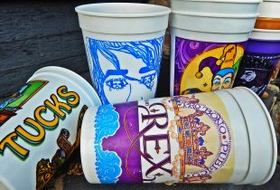 Mardi Gras Cups Stacked