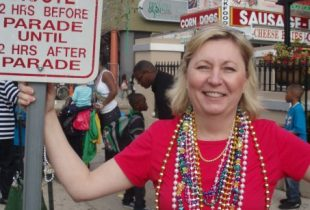 Susan Ford on Parade Route