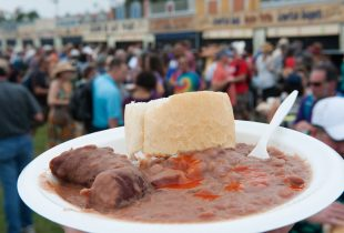 Red Beans and Rice at Jazz Fest