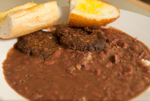 red beans and sausage patties