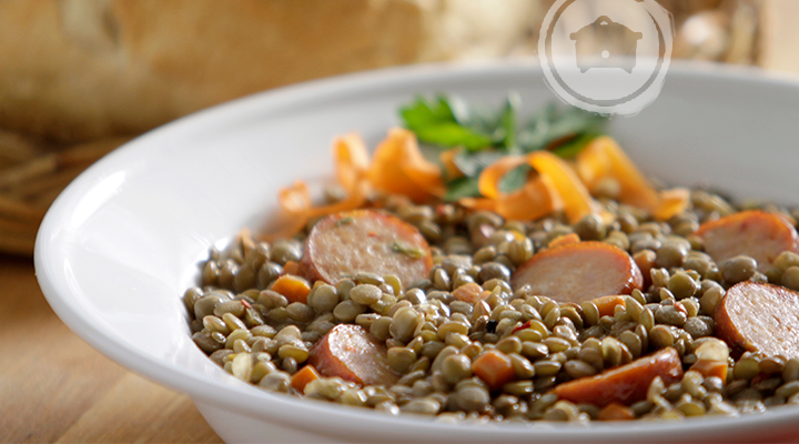 Slow Cooker Spicy Lentil and Sausage Soup :: Recipes :: Camellia Brand