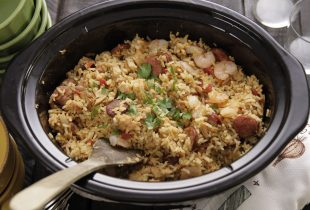 Camellia Jambalaya Dinner Mix made in a slow cooker