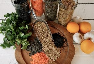 Various Types of Lentils Spill