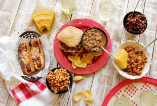 Camellia BBQ Beans 5 Ways + Buttermilk Cornbread - Get the delicious recipes for your summer backyard BBQs