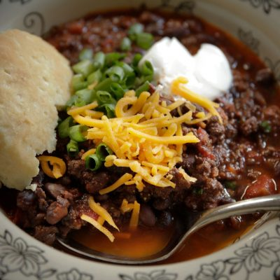 Slow Cooker Beef & Black Bean Chili