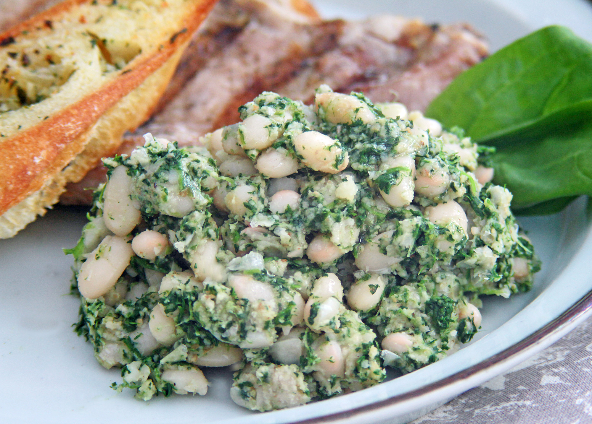 White-Beans-with-Spinach-Puree