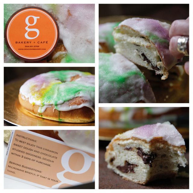 Gracious Bakery King Cake Collage