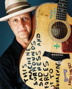 Paul Sanchez with Guitar Portrait