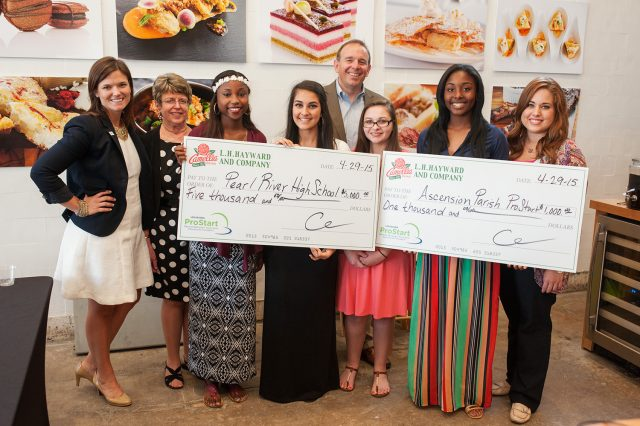 ProStart 2015 Winners with Large Checks