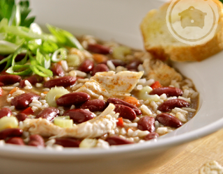 Slow Cooker Creole Chicken and Red Bean Gumbo