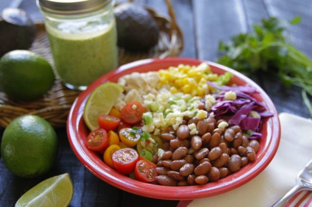 Bean Burrito Bowl recipe from Camellia