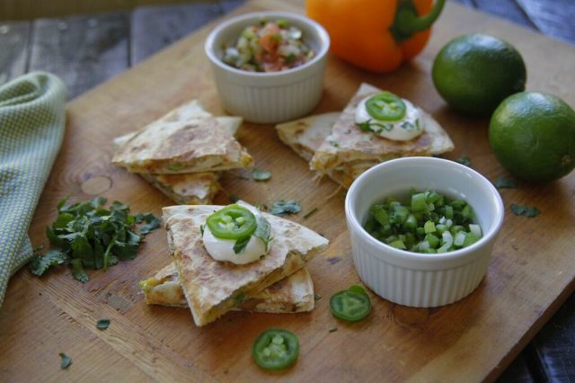 Cheesy Bean Quesadilla recipe from Camellia Beans