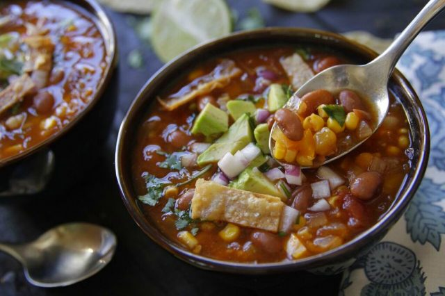 Chipotle Tortilla Soup recipe from Camellia Beans