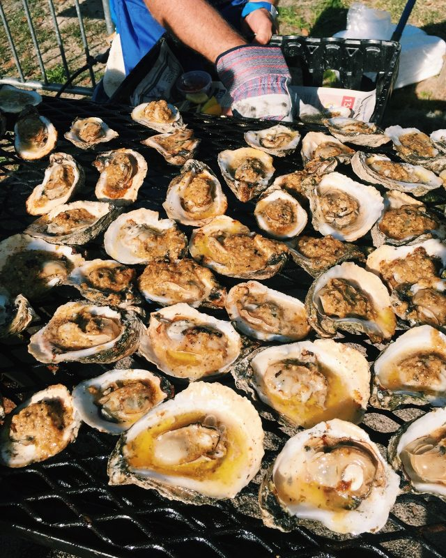 Charbroiled oysters are served at Los Isleños Heritage and Cultural Society's 43rd annual Fiesta in St. Bernard on March 9-10. (Photo by Marie de Grado)