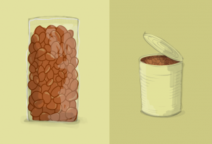 Dry vs Canned Illustration