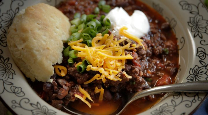 Camellia's Slow Cooker Beef & Black Bean Chili